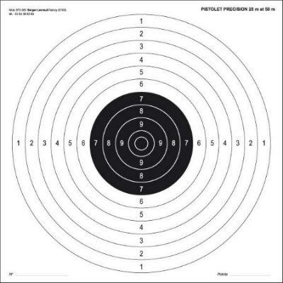 cible 25 et 50 m