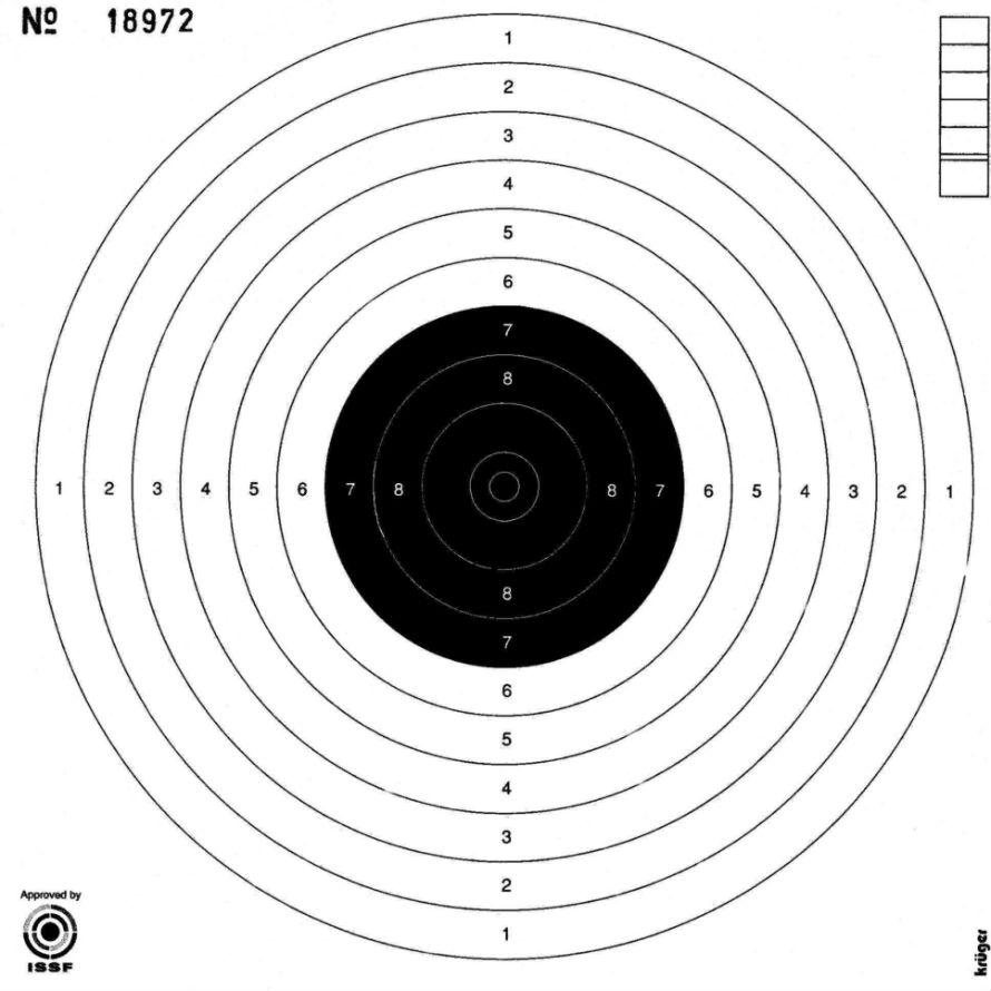 cible pistolet 10m